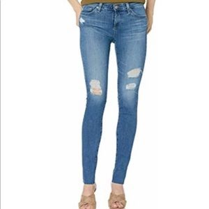 AG The Legging Super Skinny Distressed Jeans